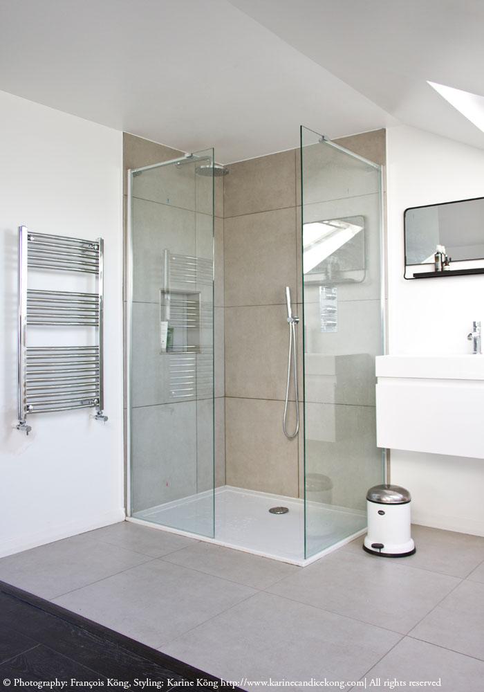 Bathroom in loft conversion, Home of Karine Kong, Founder of www.bodieandfou.com READ ON >> www.karinecandicekong.com