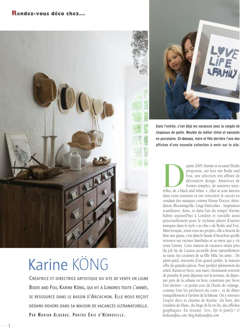 Karine Köng, Founder & Creative Director of BODIE and FOU, COTE OUEST magazine July 2014 www.karinecandicekong.com