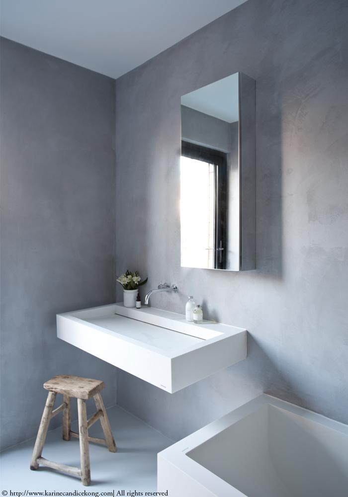 tadelakt bathroom in london. Black Bedroom Furniture Sets. Home Design Ideas