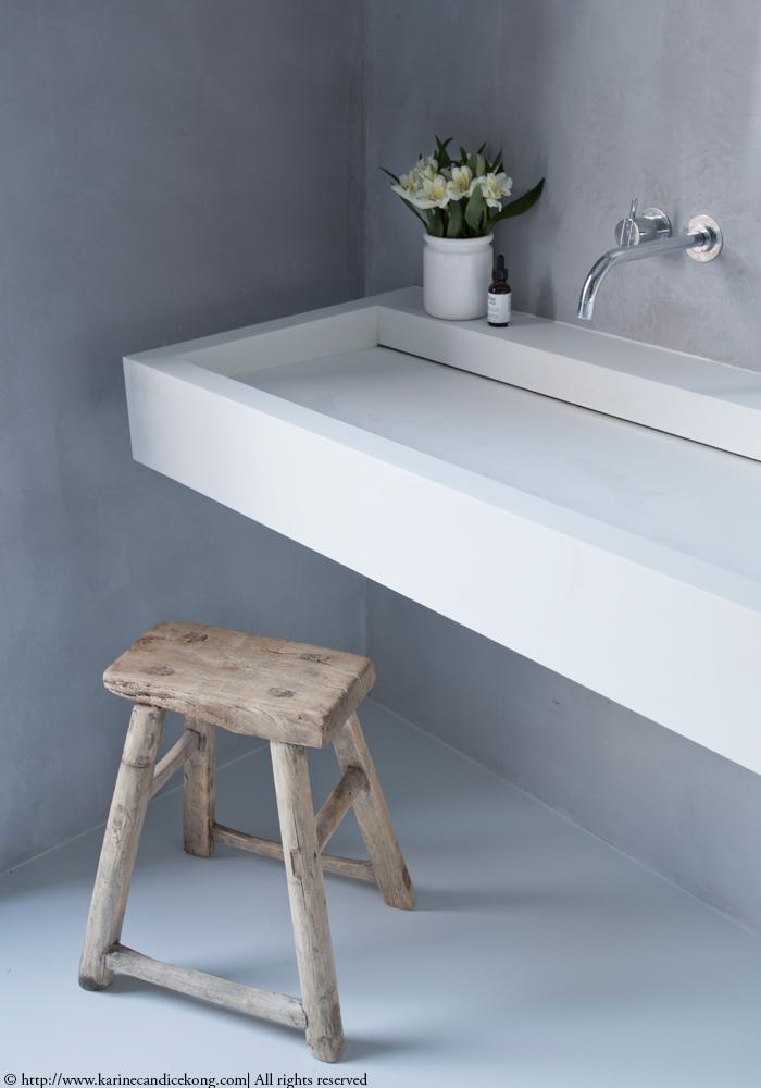 Our Tadelakt bathroom   Renovations. Interior Design Project by Karine Candice Kong