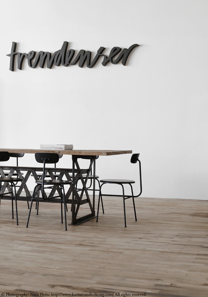 Loving the typeface of the Trendenser logo and how gorgeous this space looks. Read on www.karinecandicekong.com