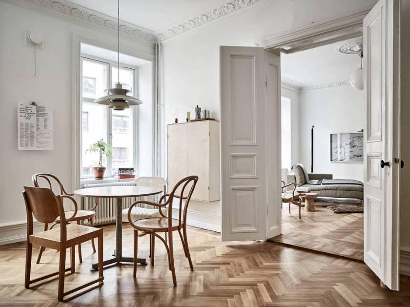Un appartement suédois dans des tons naturels