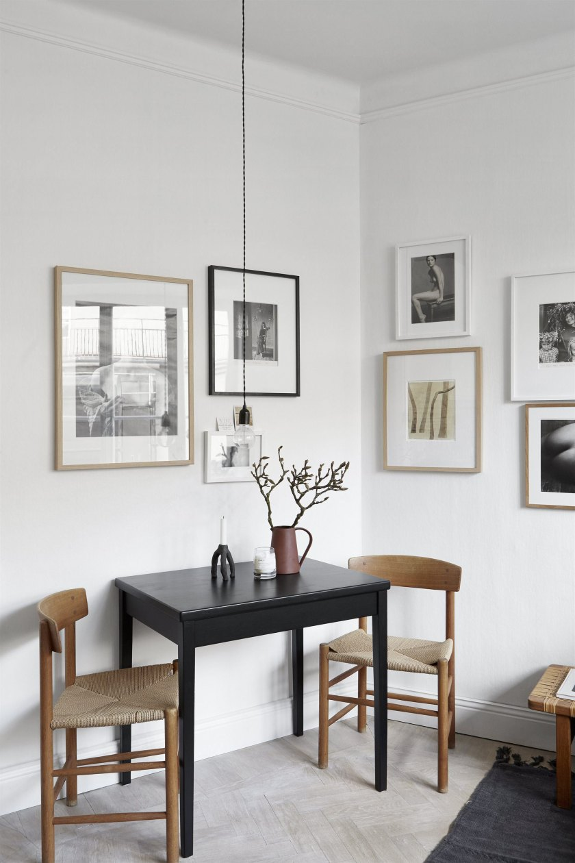 Gallery wall in a small space