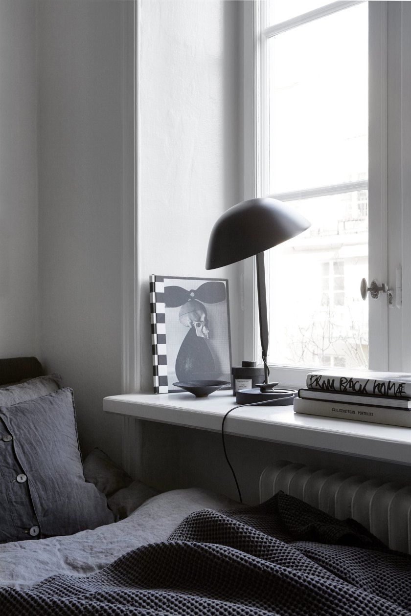 bedroom corner in a small space