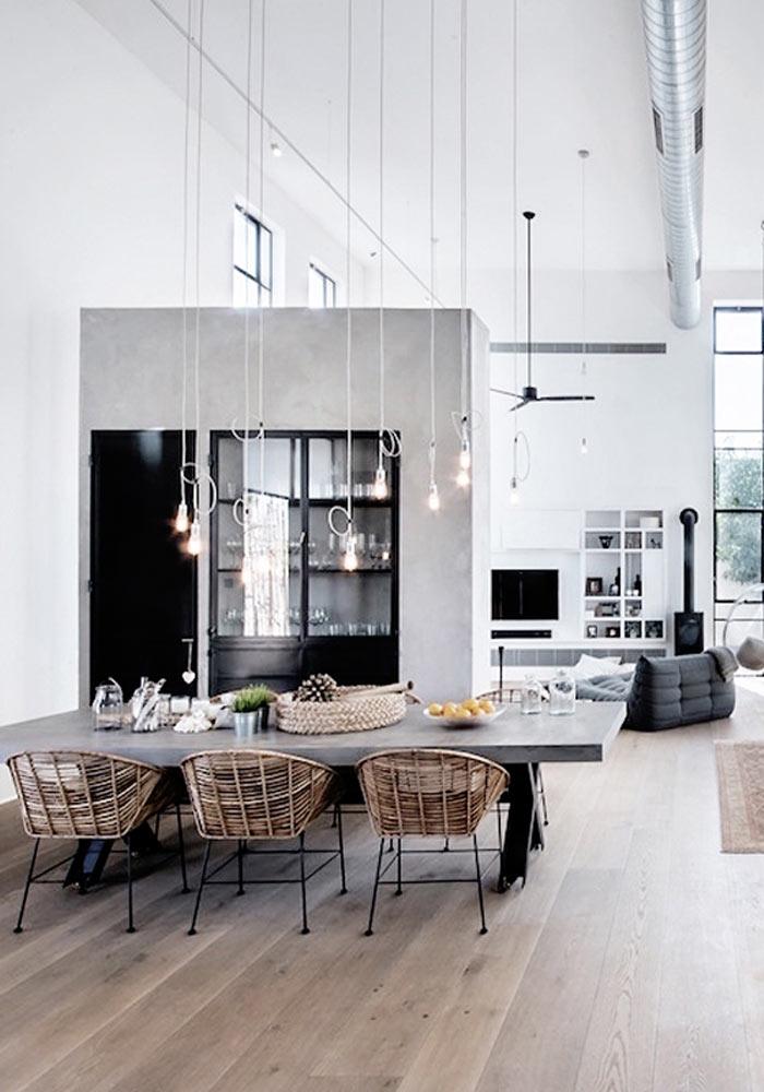 inspiring minimalist, concrete kitchen