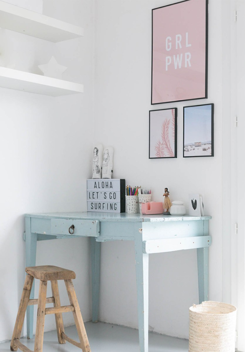 Mila's desk area makeover