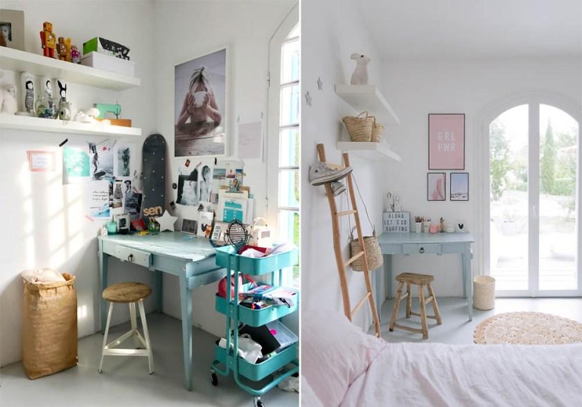 Teenage's desk area makeover BEFORE & AFTER