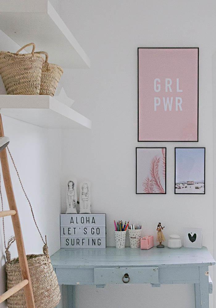 Teenage's desk area & bedroom makeover