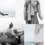 Winter by sea inspired mood board