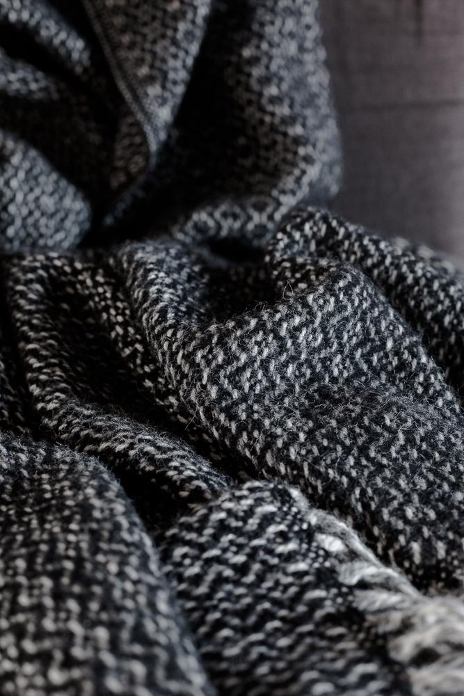 Gorgeous woollen throw from Murmur