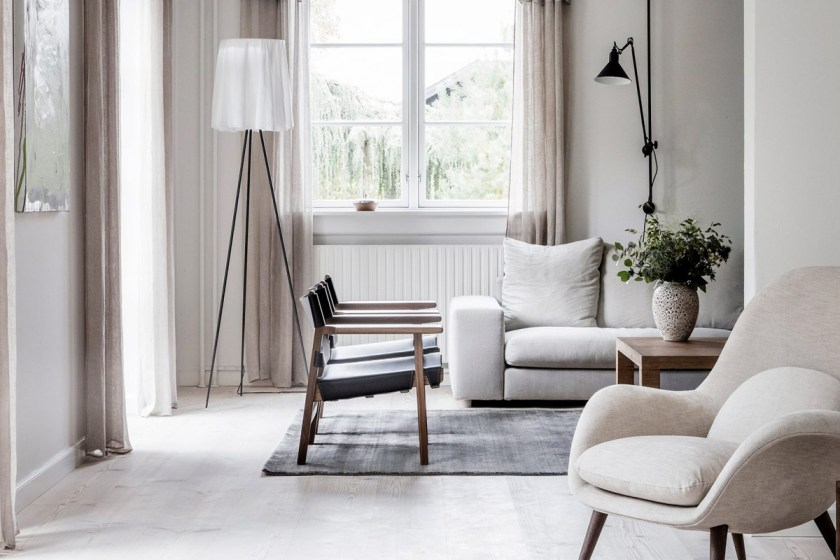 Neutral tones in the home of Kaja Møller, head of Danish furniture brand Fredericia