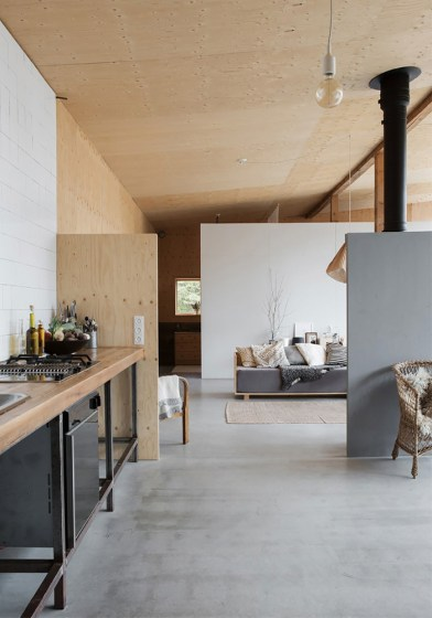 A garage converted into a dreamy Summer house