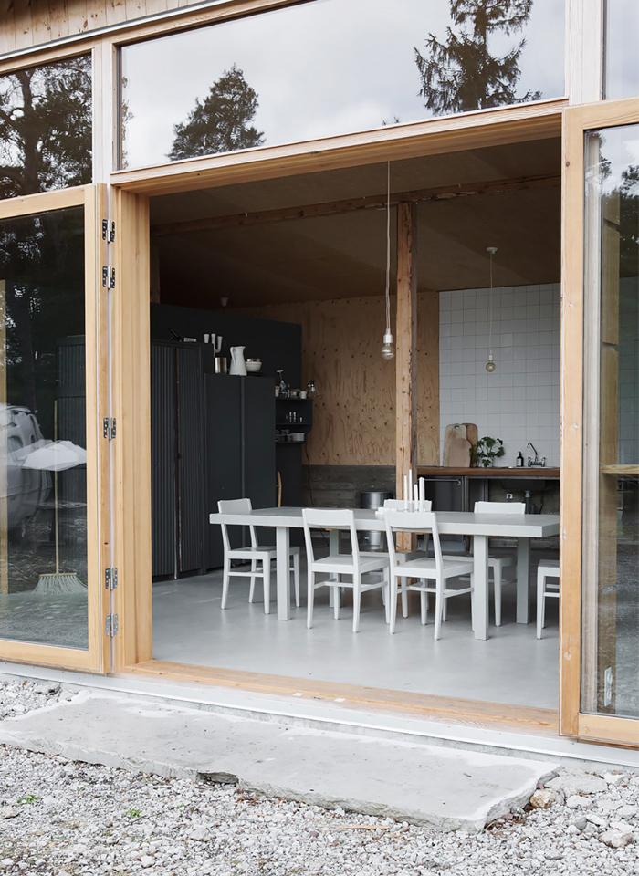 Un garage converti en maison de vacances