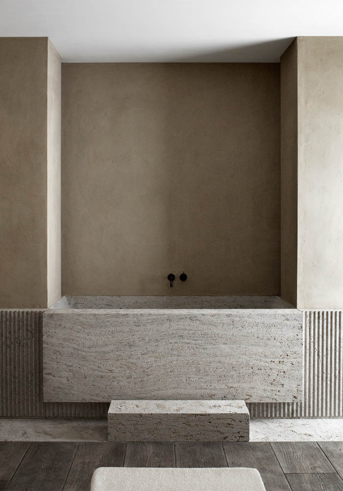 A Timeless Warm Minimalist Bathroom Bodie And Fou Studio