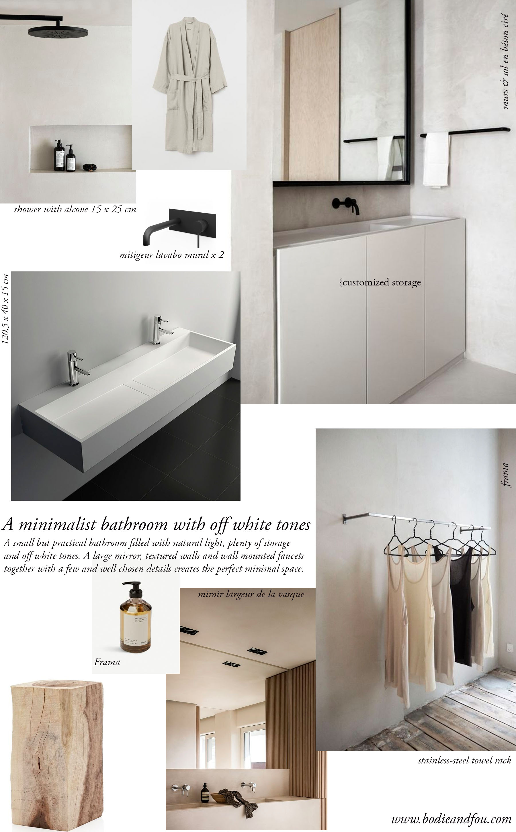 Minimalist Bathroom With Off White Tones Bodie And Fou Studio