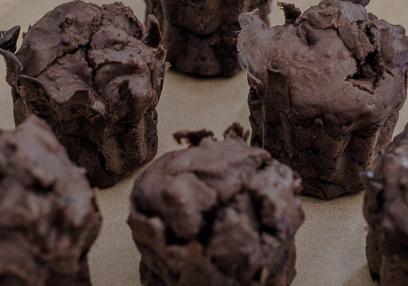 Intense cocoa muffin without added sugar