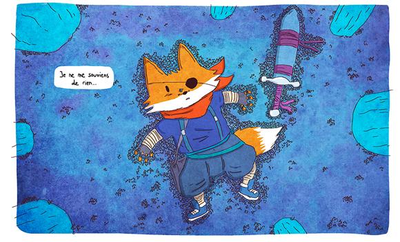 """""""Fox, un personnage que je dessine tout le temps. J'ai plusieurs idées d'histoires avec lui..."""""""
