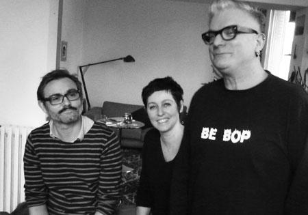 De gauche à droite : Sylvain Dorange, Cécile Richard et Sanseverino.