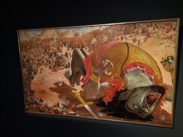 "Albert Dubout, ""David et Goliath"""