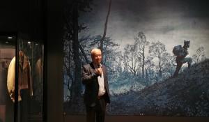 Emmanuel Guibert lors du vernissage de l'exposition à l'Académie des beaux-arts, le 9 septembre 2020.