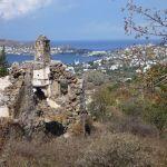Sandima village with a view of Yalikavak Turkey