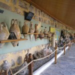 Rows of Amphorae at Bodrum Castle, Turkey