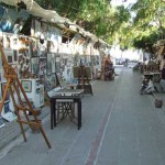 View of Art Street Yalikavak Turkey