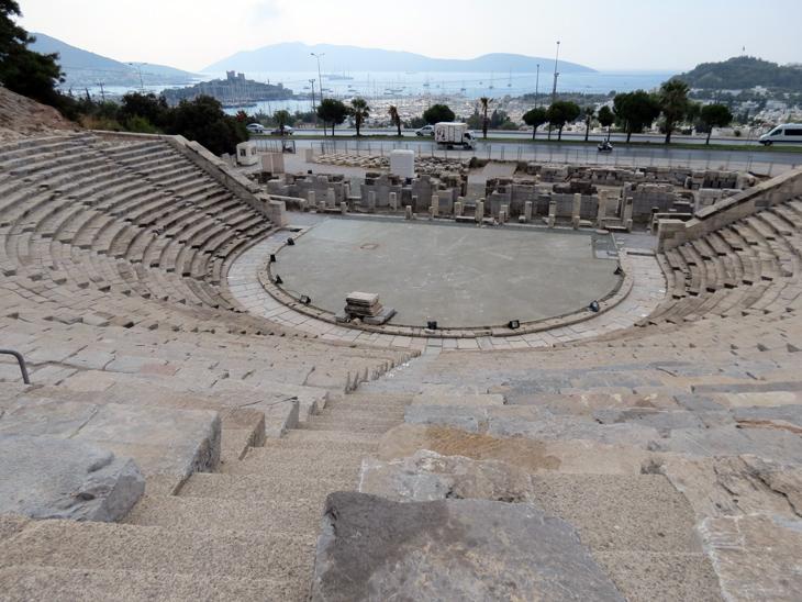 Bodrum Amphitheatre with castle in background Turkey