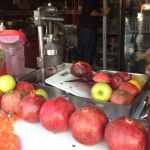 Pomegranite juice in Bodrum Turkey (Nar)