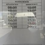 2017 Dolmus Timetable Gulluk to Bodrum