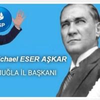 İskenderun İlçe Başkanlığı'nı Yürüten Michael Eser Aşkar DSP Muğla İl Başkanlığına Atandı