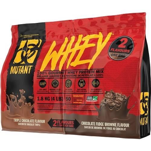 Mutant Whey Dual Chamber Bag 1800gr Triple Choco / Fudge Brownie