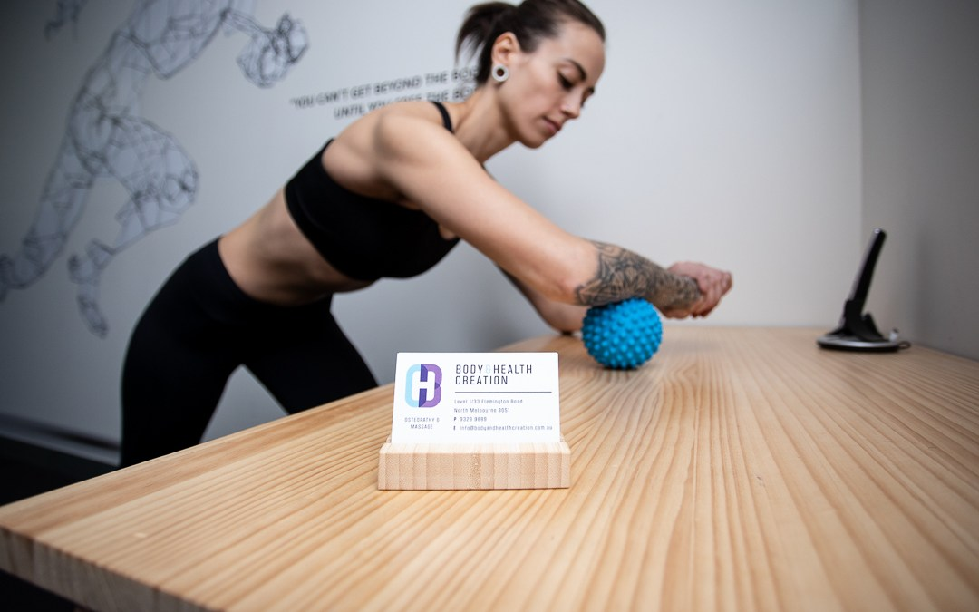 SPIKEY BALL EXERCISES TO REDUCE MUSCLE TENSION
