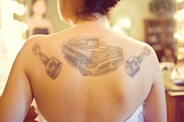 Classic Vintage car tattoos