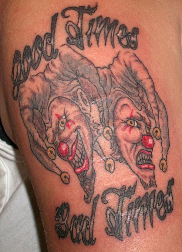 Tragedy and comedy tattoo
