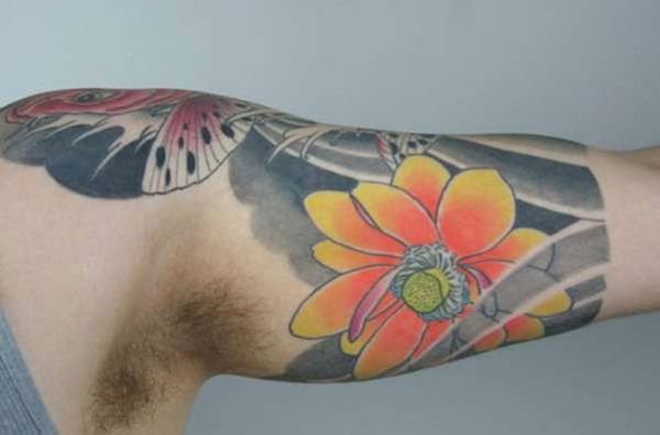 Floral Half Sleeve Tattoo