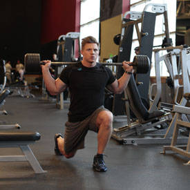 Barbell Caminando Lunge