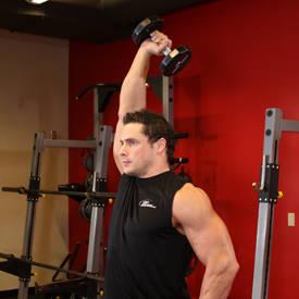 Mancuerna Uno-tríceps del brazo de extensión
