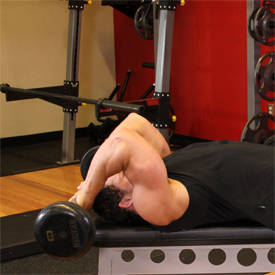 Lying Close-Grip Barbell Triceps Extension Behind The Head