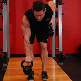Alternating Kettlebell Row