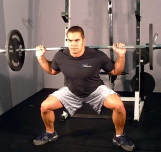sumo style squat in power rack
