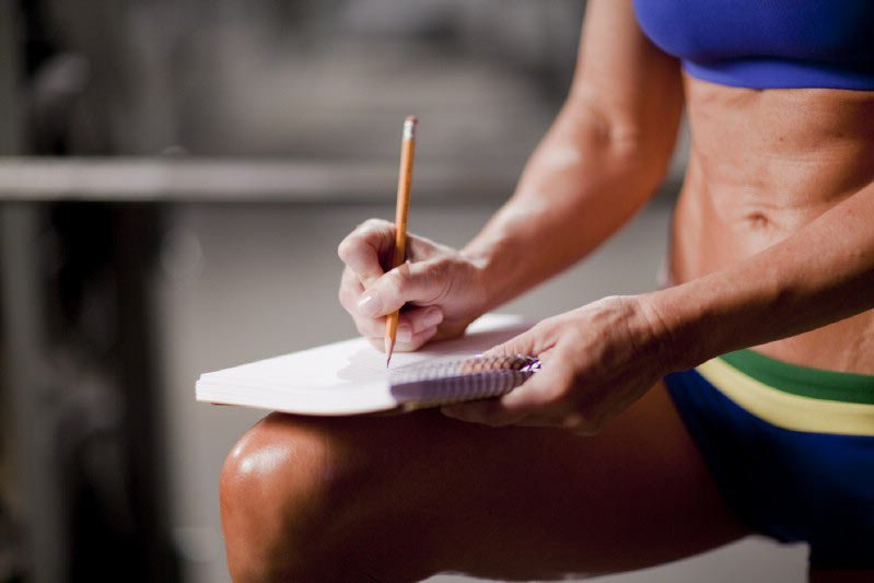 track your progress with a fitness health journal