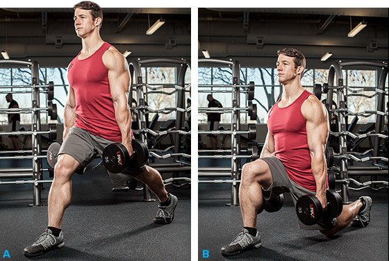 Image result for heavy dumbbell lunges