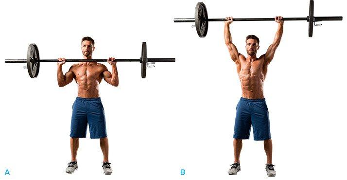 Image result for standing barbell shoulder press