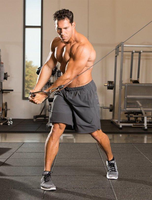 Disengage your hip flexors.