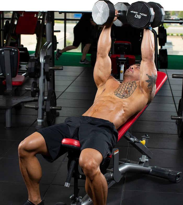 Low-Angle Incline Dumbbell Fly