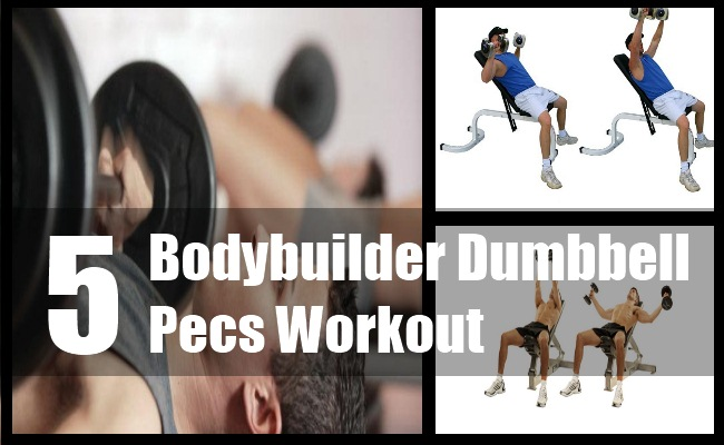 Bodybuilder Dumbbell Pecs Workout