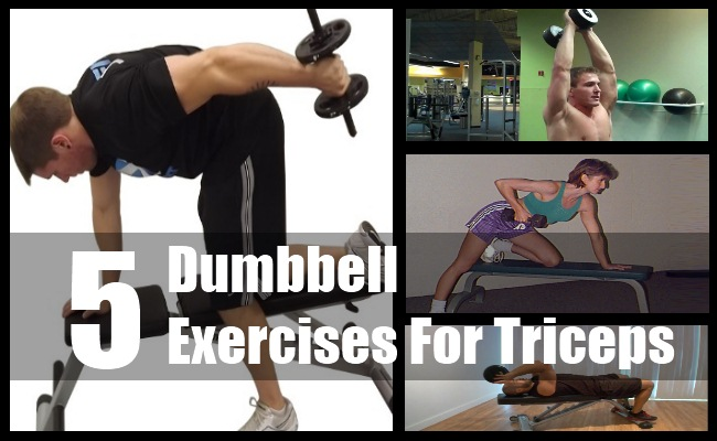 Dumbbell Exercises For Triceps