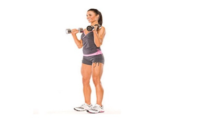 Horizontal Curl With Dumbbells