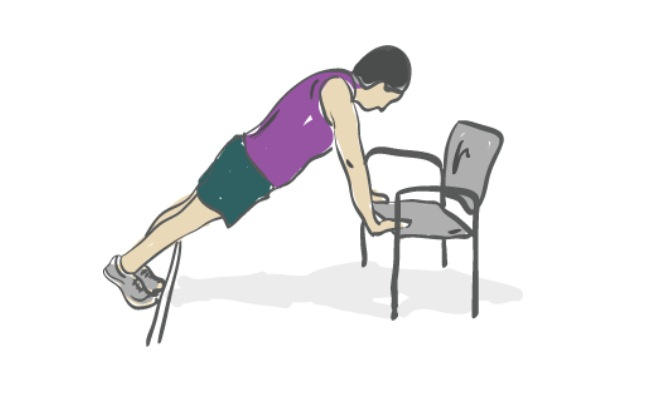 Push Ups Chair Exercise
